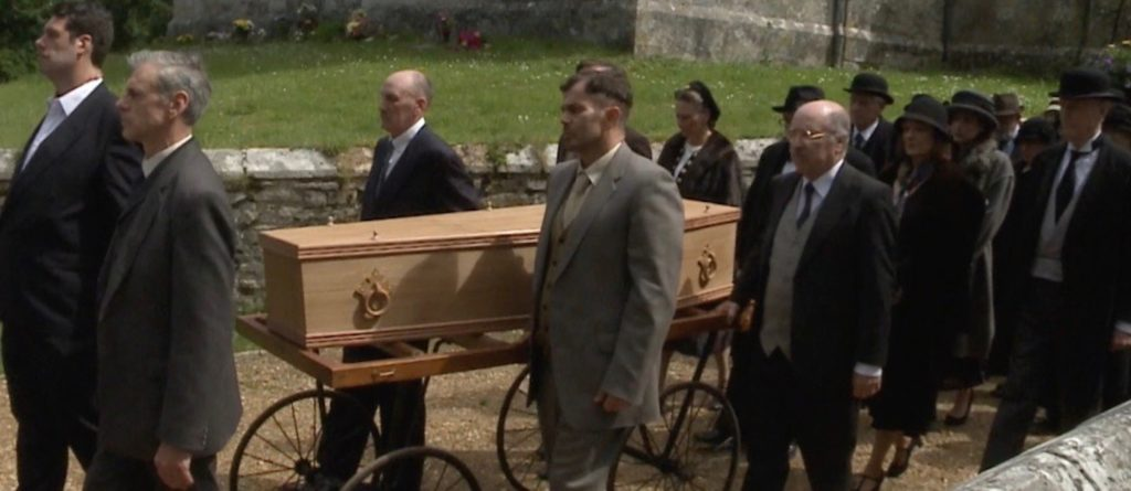 Funeral of Lawrence at Moreton