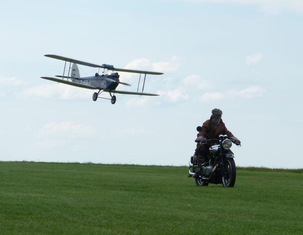 Bi Plane and motorbike homage to Top Gun