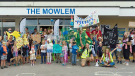 People outside the Mowlem