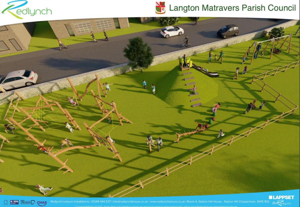 Artist impression of the new playground